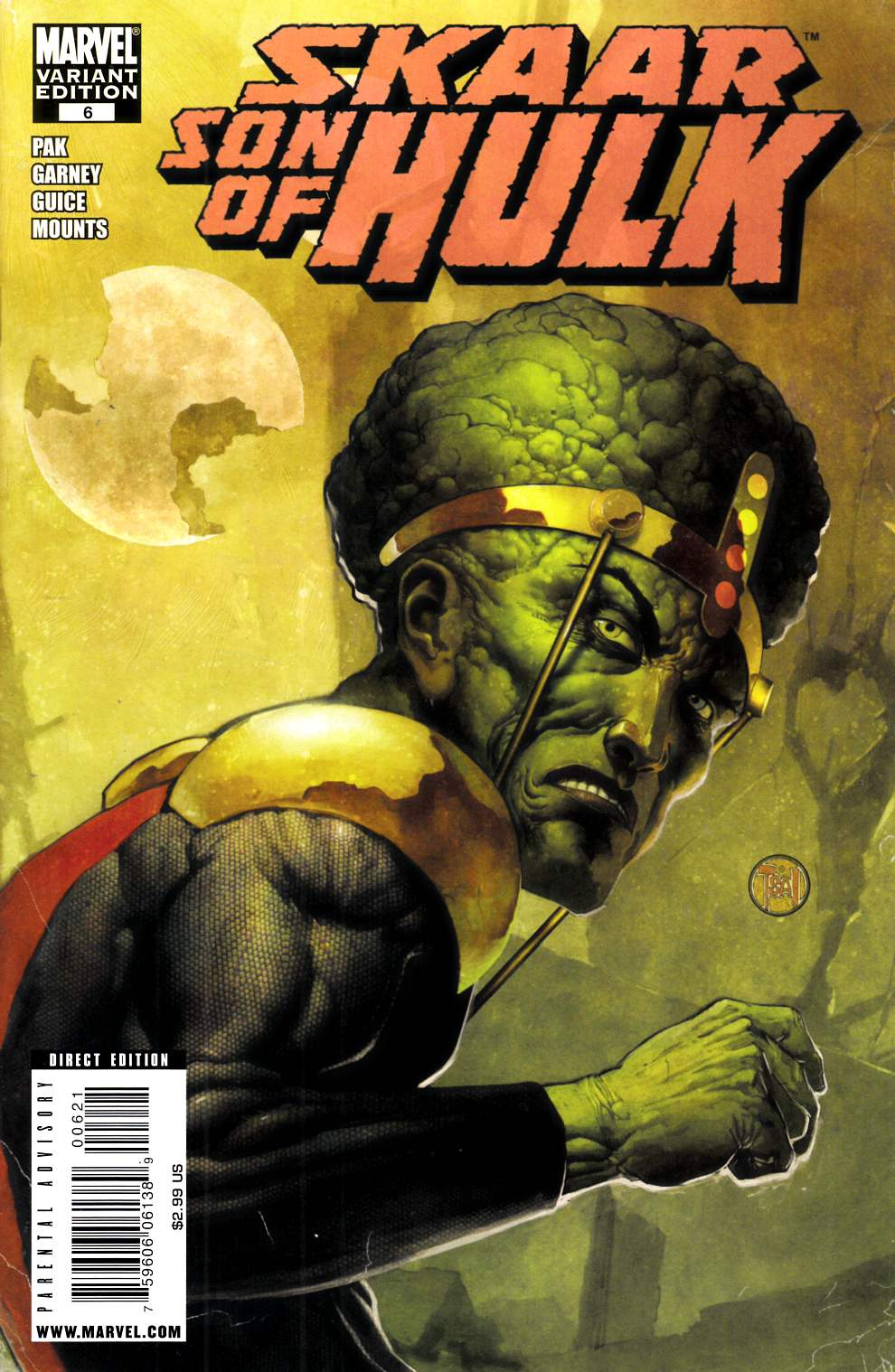 Skaar Son of Hulk #6 Villain Variant Cover Very Fine (8.0) [Marvel Comic] LARGE