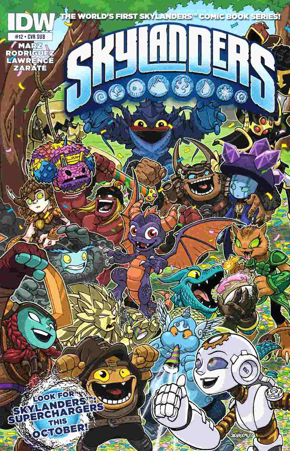 Skylanders #12 Subscription Cover [IDW Comic] THUMBNAIL