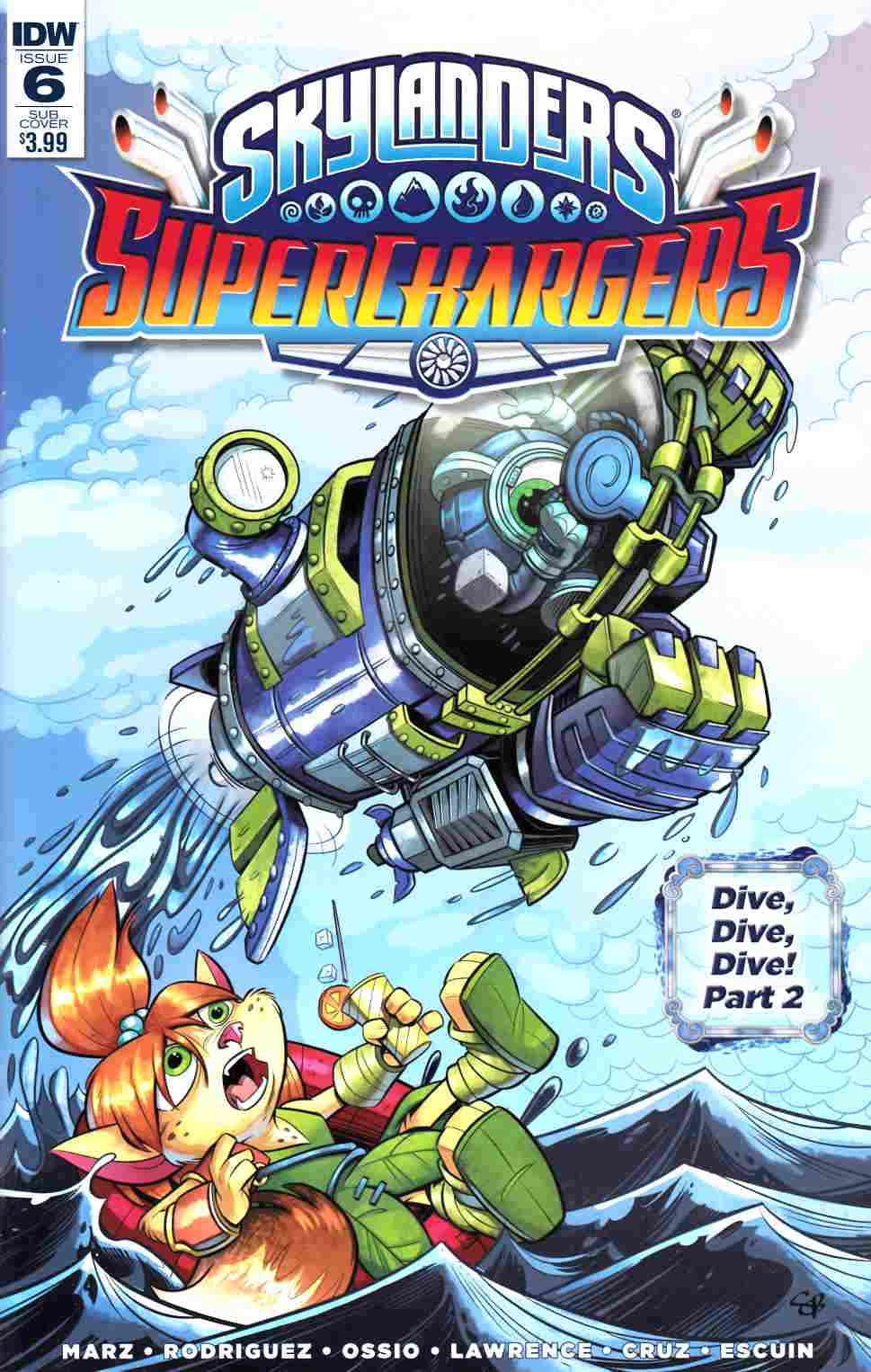 Skylanders Superchargers #6 Subscription Cover [IDW Comic] THUMBNAIL