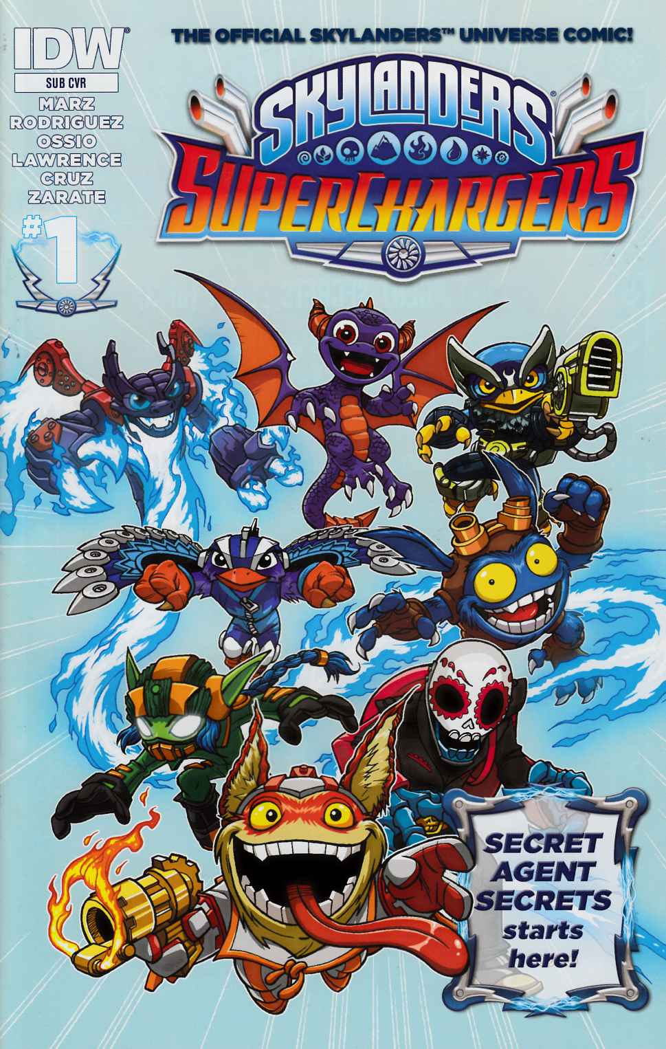 Skylanders Superchargers #1 Subscription Variant Cover [IDW Comic] THUMBNAIL