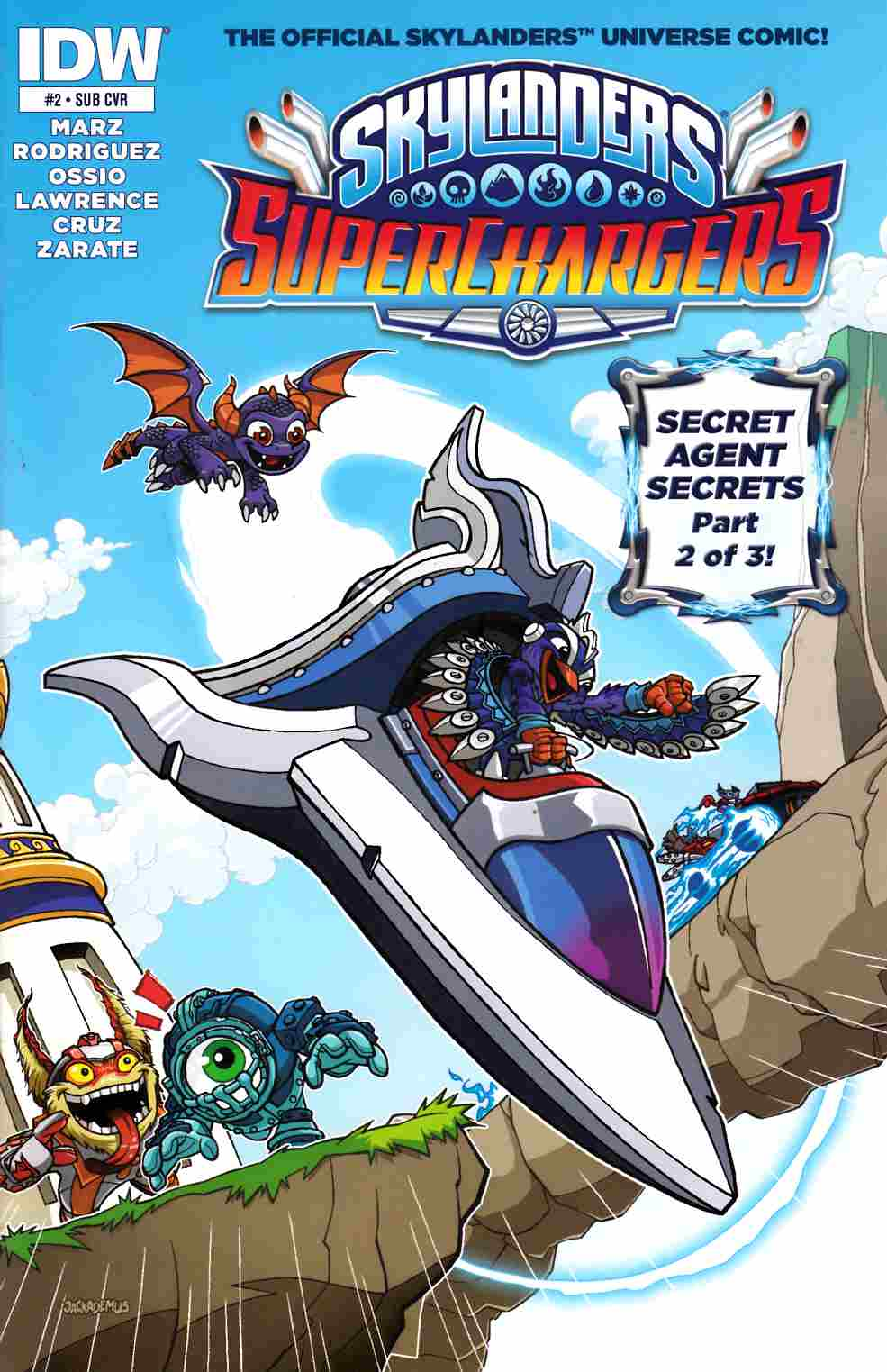 Skylanders Superchargers #2 Subscription Cover [IDW Comic] THUMBNAIL