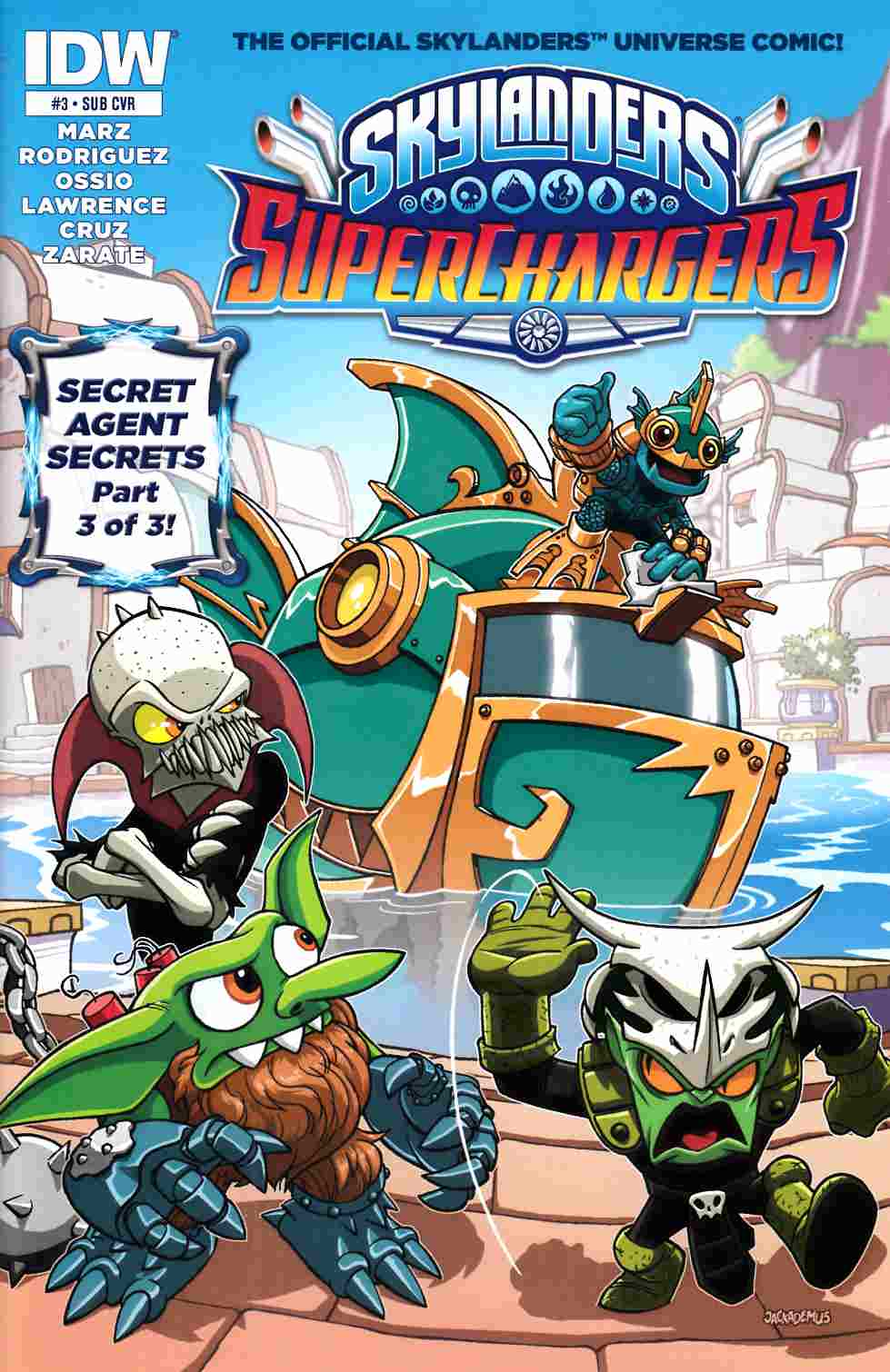 Skylanders Superchargers #3 Subscription Cover [IDW Comic] THUMBNAIL