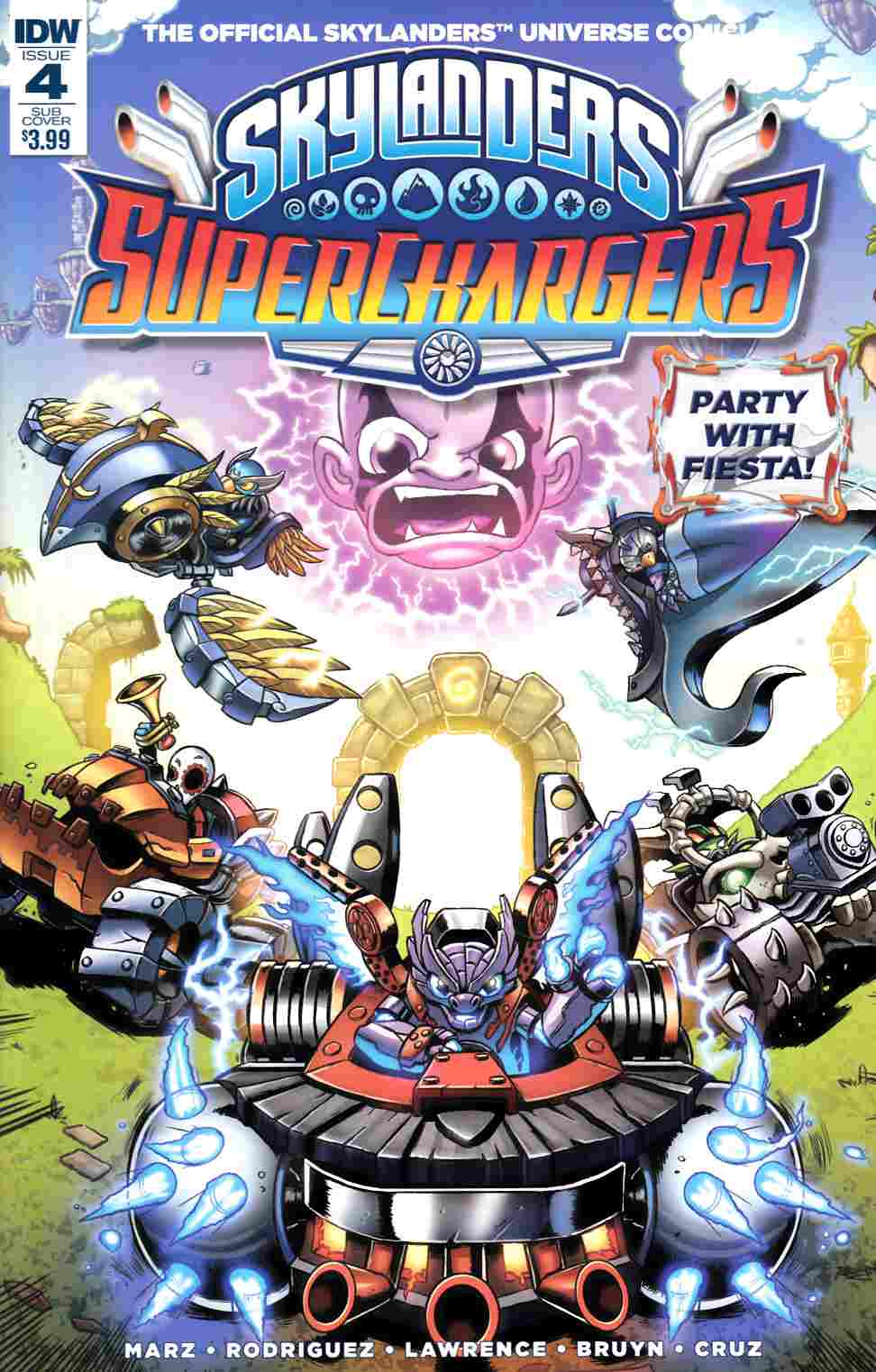 Skylanders Superchargers #4 Subscription Cover [IDW Comic] THUMBNAIL
