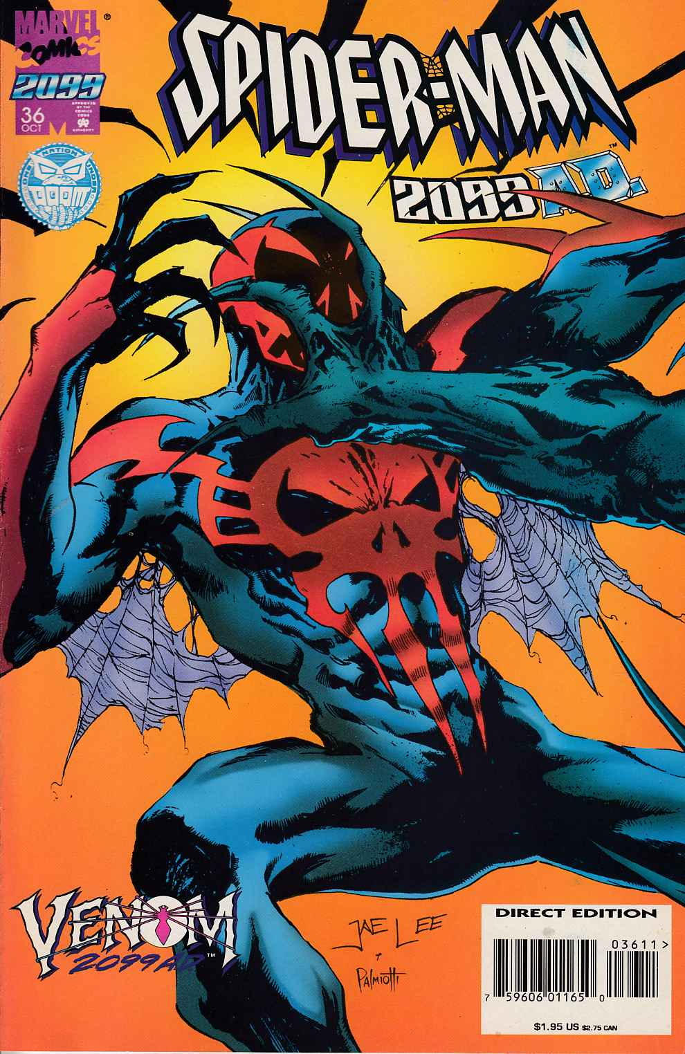 Spider-Man 2099 #36 Cover A Very Fine (8.0) [Marvel Comic] LARGE