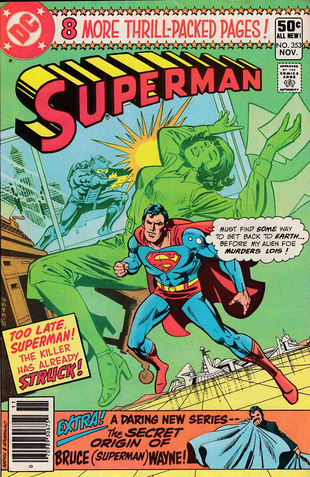 Superman #353 Newsstand Edition Fine (6.0) [DC Comic] LARGE