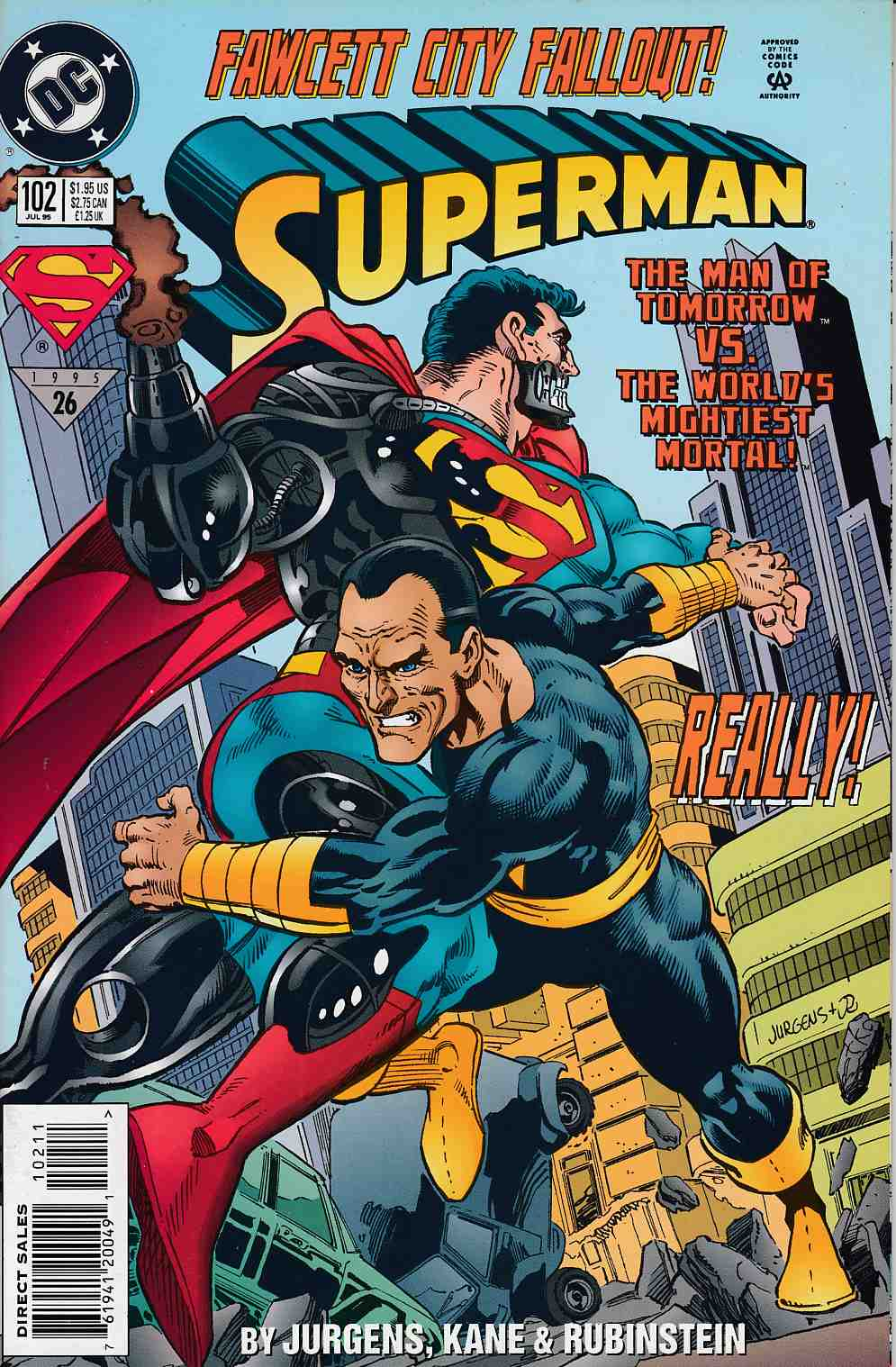Superman #102 Very Fine (8.0) [DC Comic] LARGE