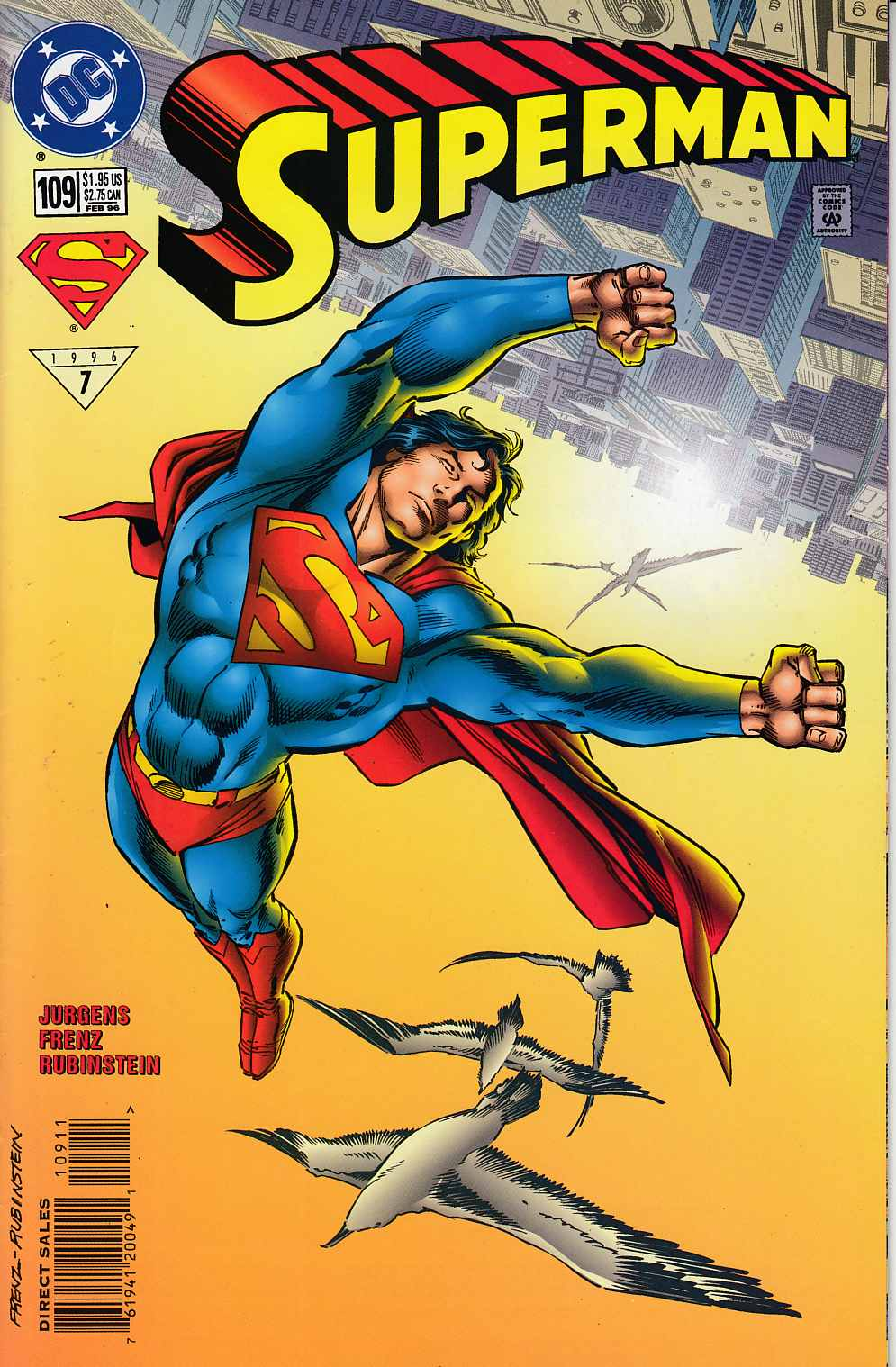 Superman #109 Very Fine (8.0) [DC Comic] LARGE
