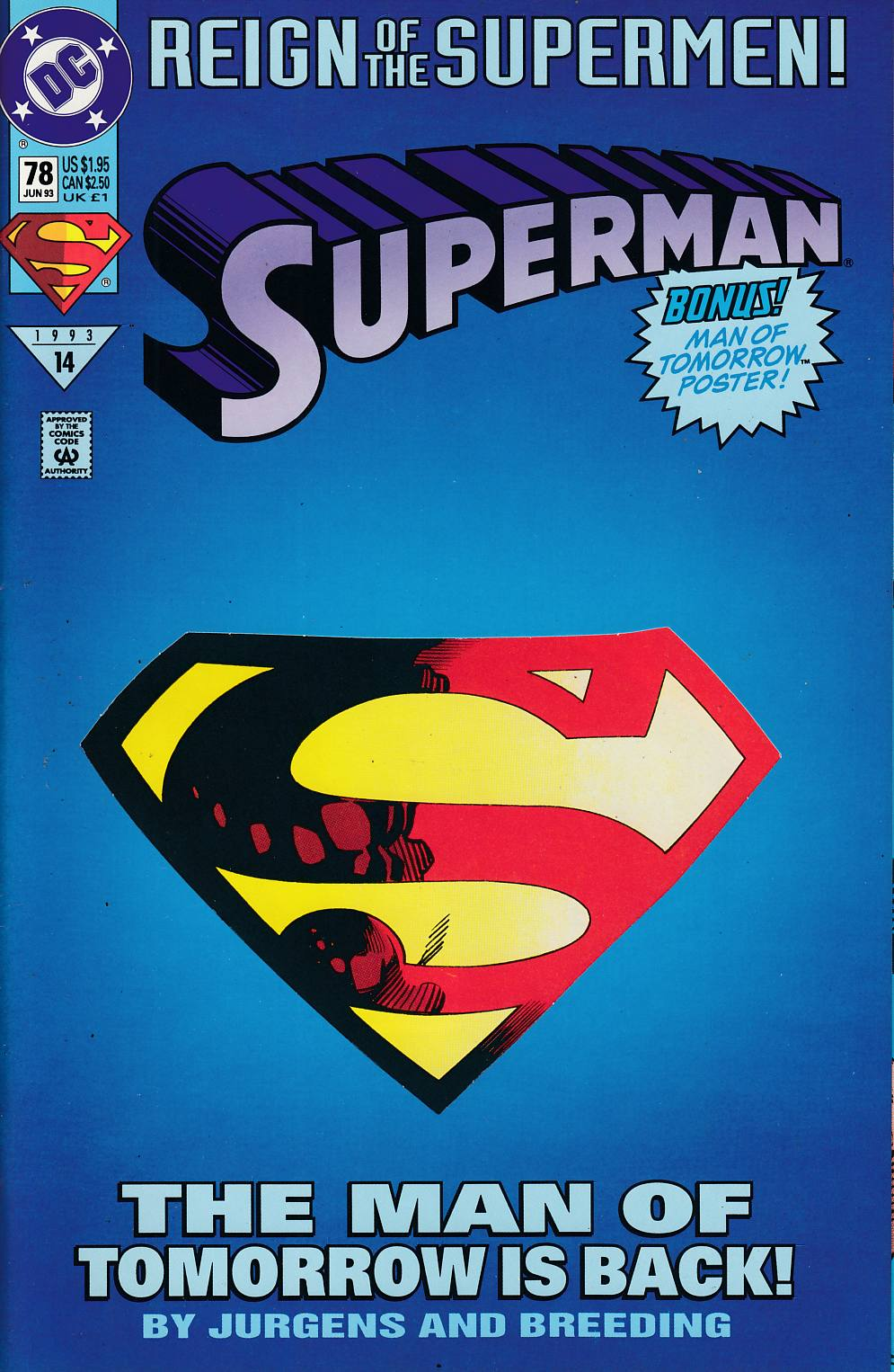 Superman #78 Very Fine (8.0) [DC Comic] LARGE