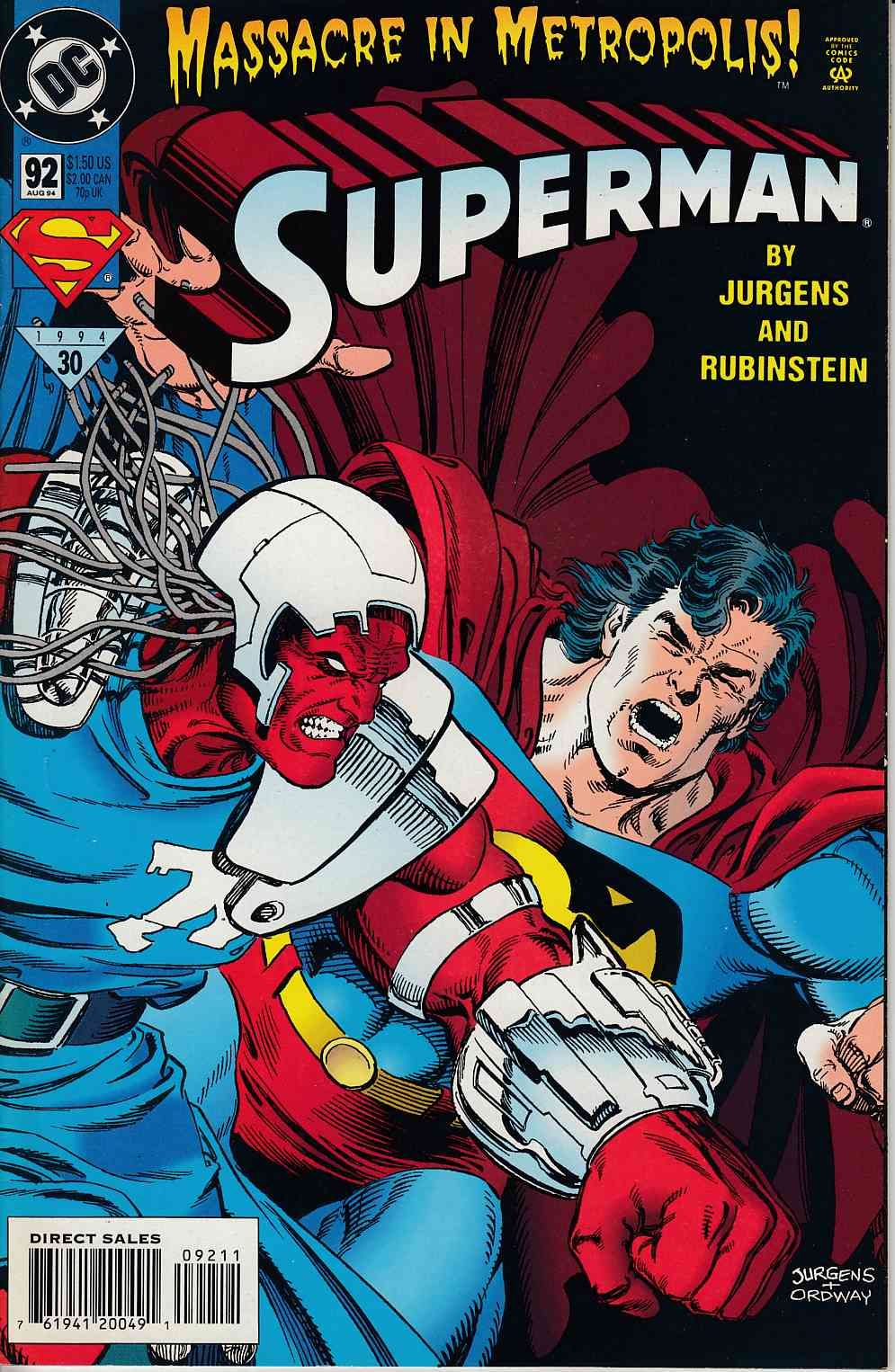 Superman #92 Near Mint (9.4) [DC Comic] LARGE