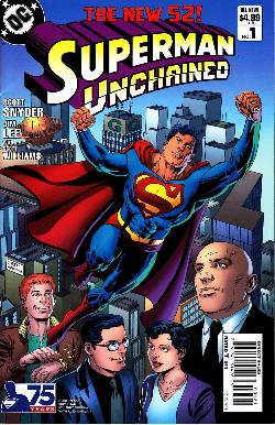 Superman Unchained #1 75th Anniversary Modern Age Cover [DC Comic] THUMBNAIL