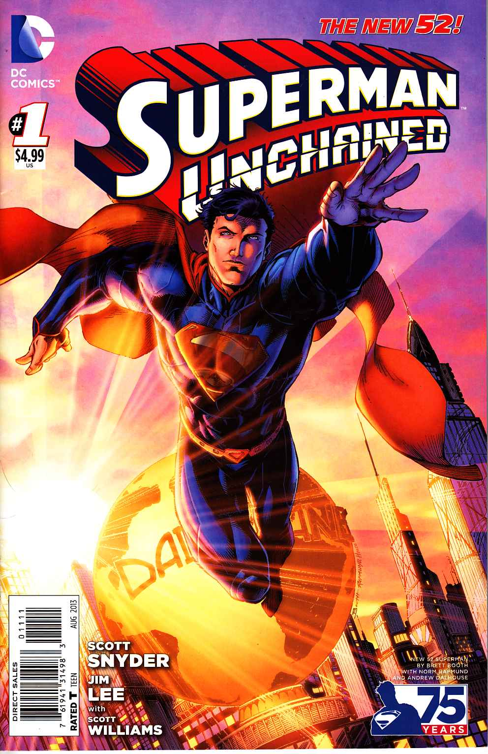 Superman Unchained #1 75th Anniversary New 52 Cover [DC Comic] THUMBNAIL