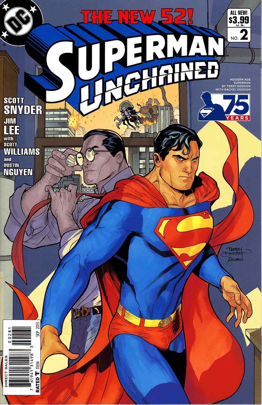 Superman Unchained #2 75th Anniversary Variant Modern Age Cover [DC Comic] THUMBNAIL