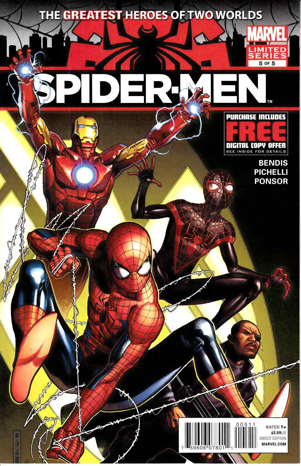 Spider-Men #5 Near Mint (9.4) [Marvel Comic] THUMBNAIL