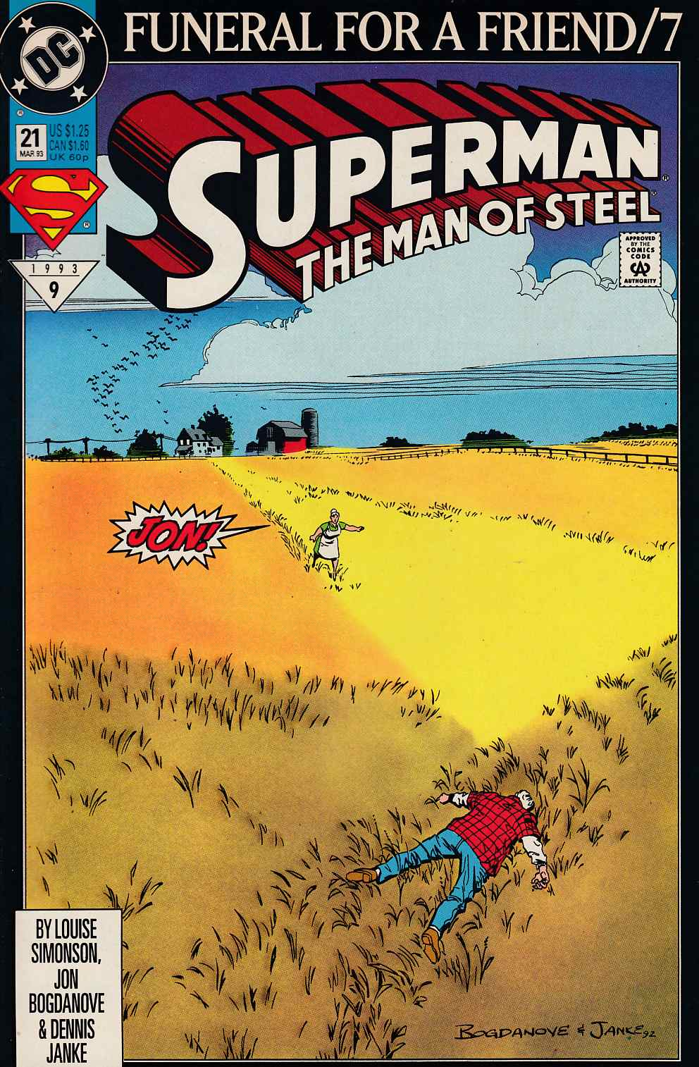 Superman The Man of Steel #21 Very Fine (8.0) [DC Comic] LARGE