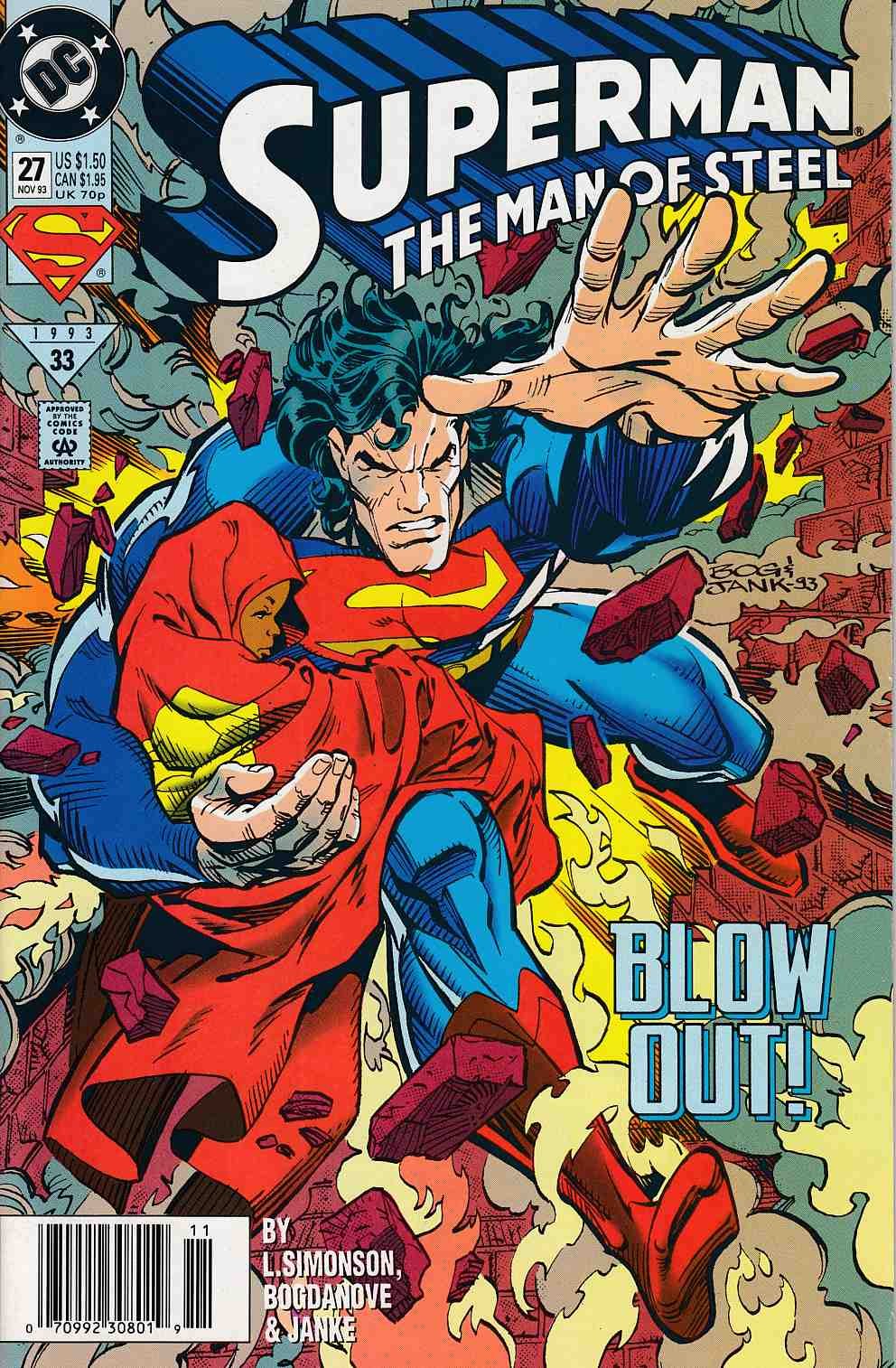 Superman The Man of Steel #27 Newsstand Edition Very Fine Minus (7.5) [DC Comic] LARGE