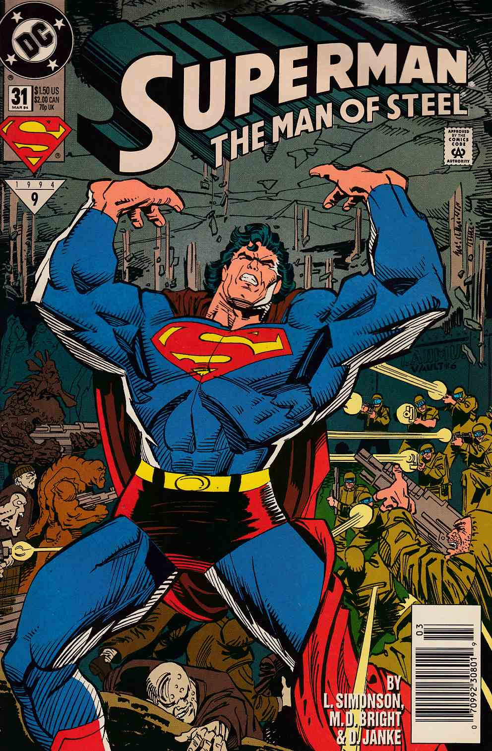 Superman The Man of Steel #31 Newsstand Edition Very Good (4.0) [DC Comic] LARGE