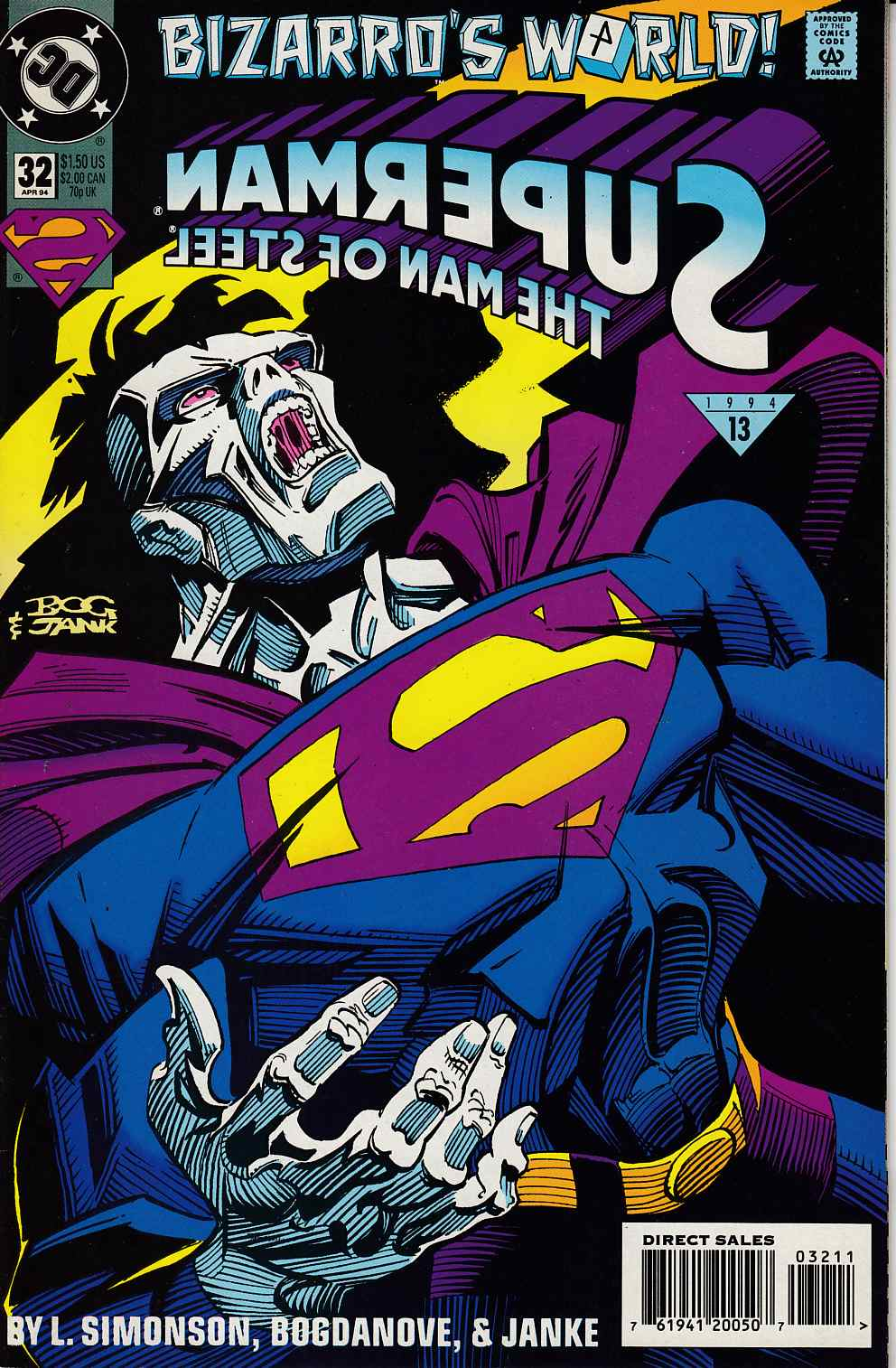 Superman The Man of Steel #32 Very Fine (8.0) [DC Comic] LARGE