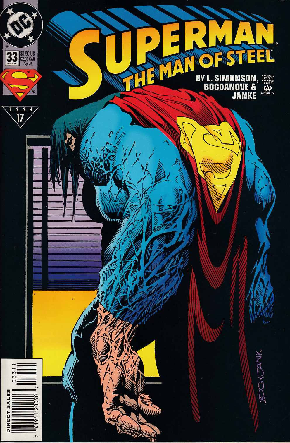 Superman The Man of Steel #33 Near Mint (9.4) [DC Comic] LARGE