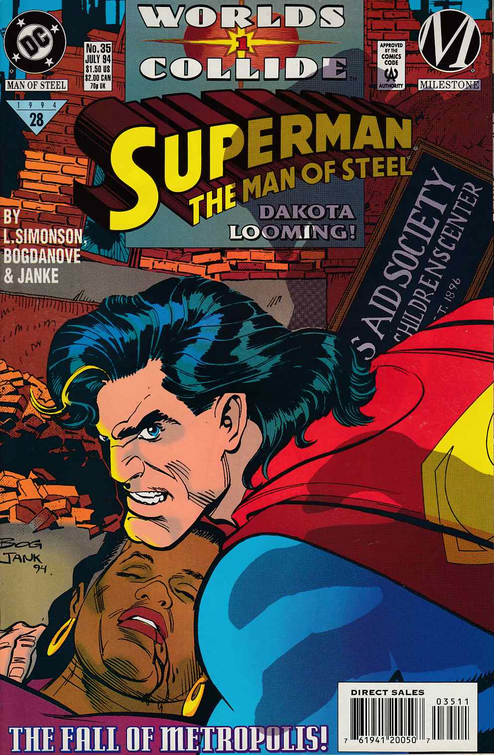 Superman The Man of Steel #35 Near Mint (9.4) [DC Comic] LARGE