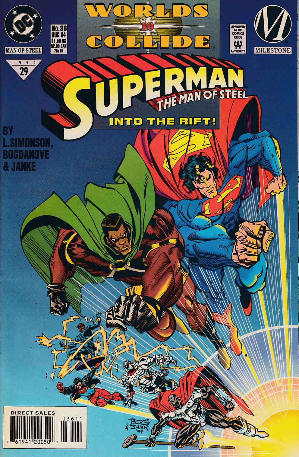 Superman The Man of Steel #36 Near Mint (9.4) [DC Comic] LARGE