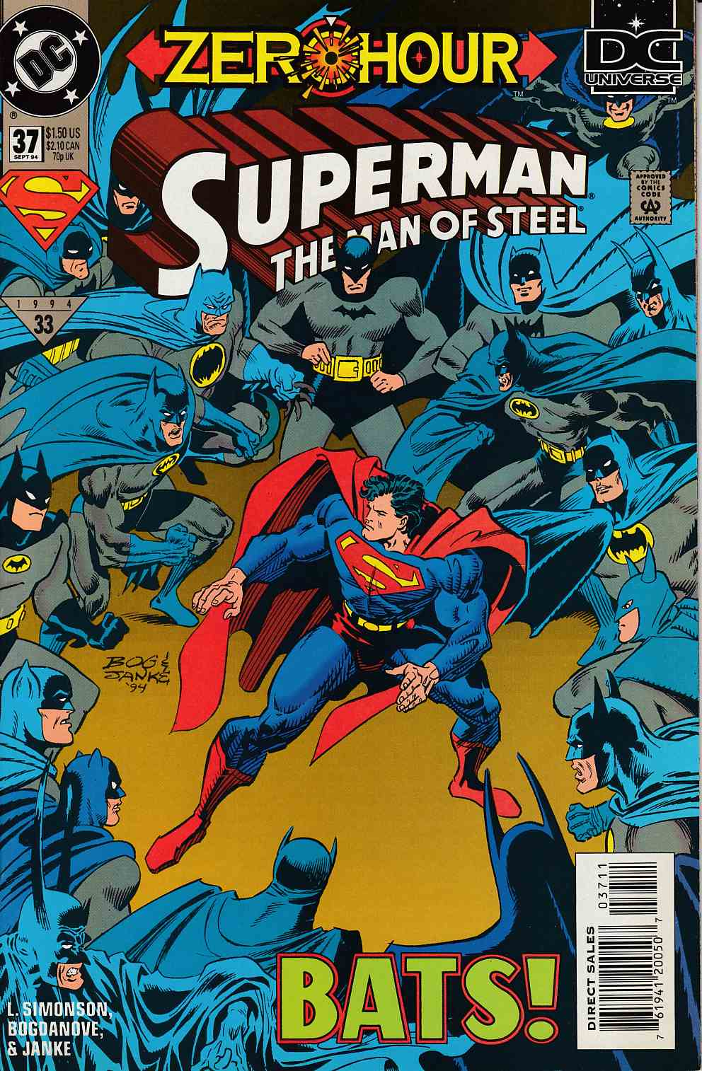 Superman The Man of Steel #37 Near Mint (9.4) [DC Comic] LARGE