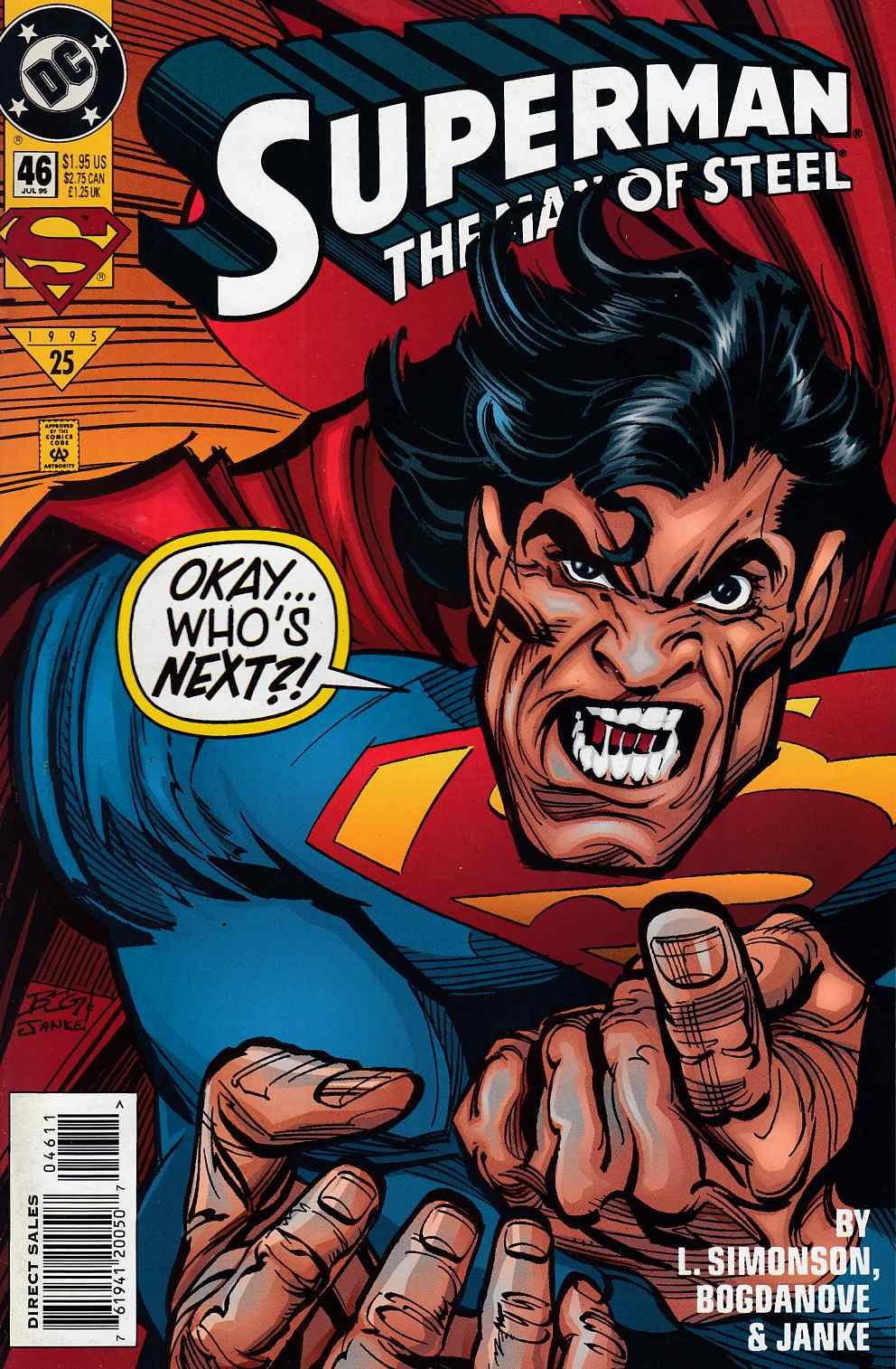 Superman The Man of Steel #46 Near Mint (9.4) [DC Comic] LARGE