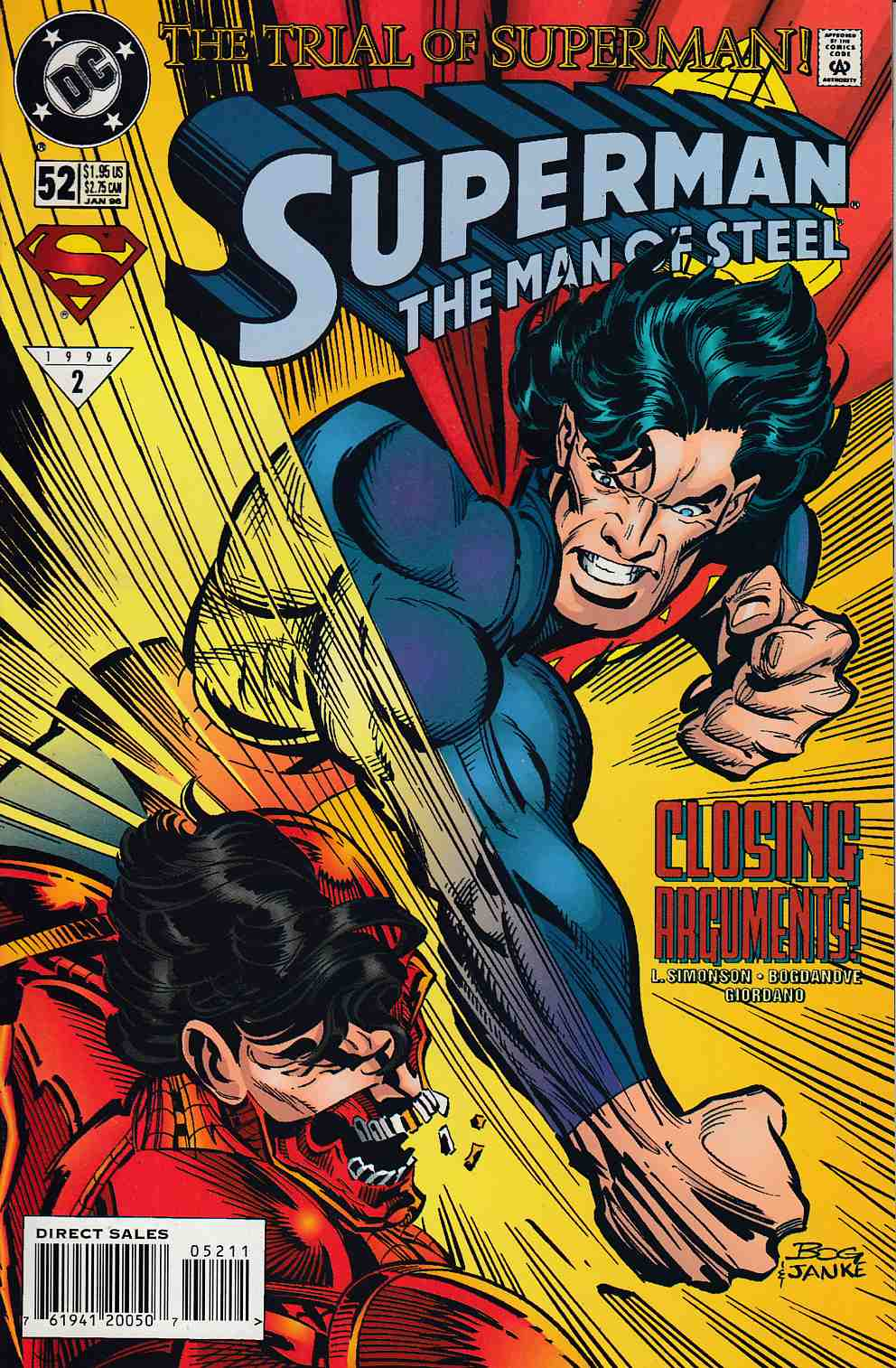 Superman The Man of Steel #52 Very Fine (8.0) [DC Comic] LARGE