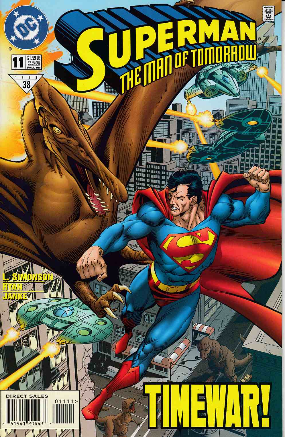 Superman The Man of Tomorrow #11 Very Fine (8.0) [DC Comic]_LARGE