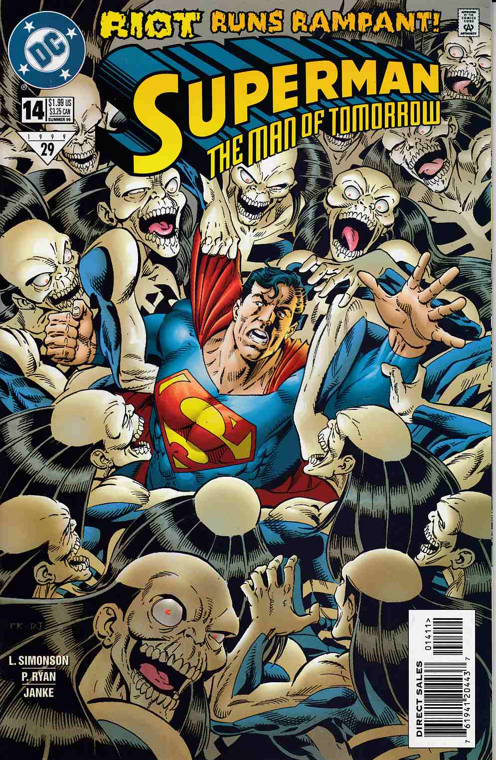 Superman The Man of Tomorrow #14 Very Fine (8.0) [DC Comic] THUMBNAIL