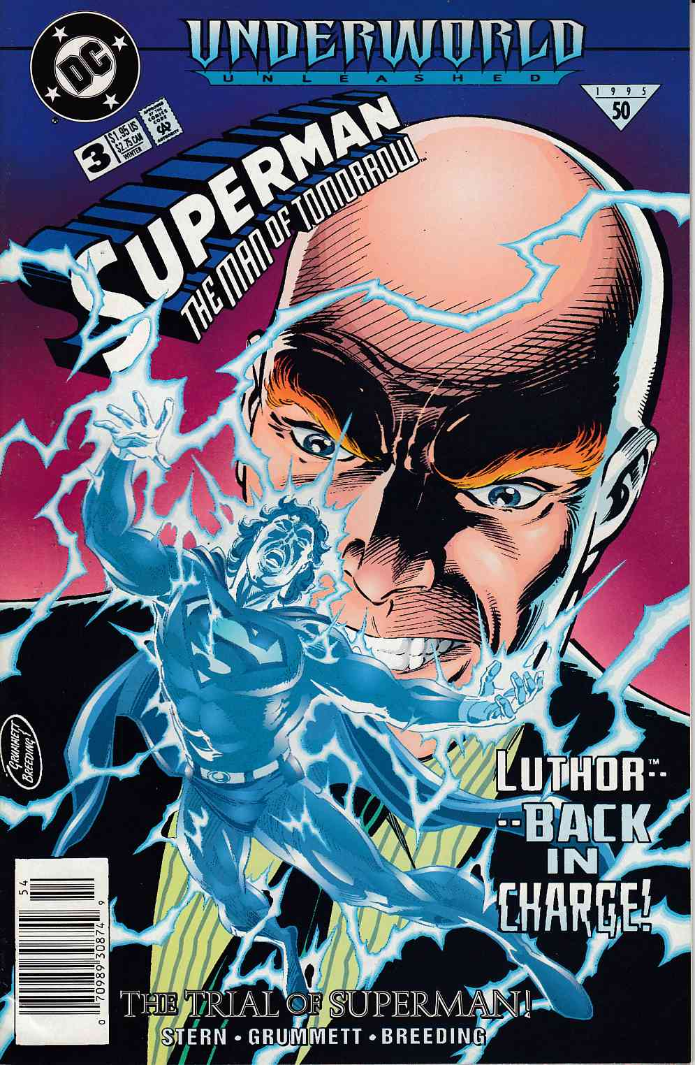 Superman The Man of Tomorrow #3 Newsstand Edition Very Fine Minus (7.5) [DC Comic] THUMBNAIL