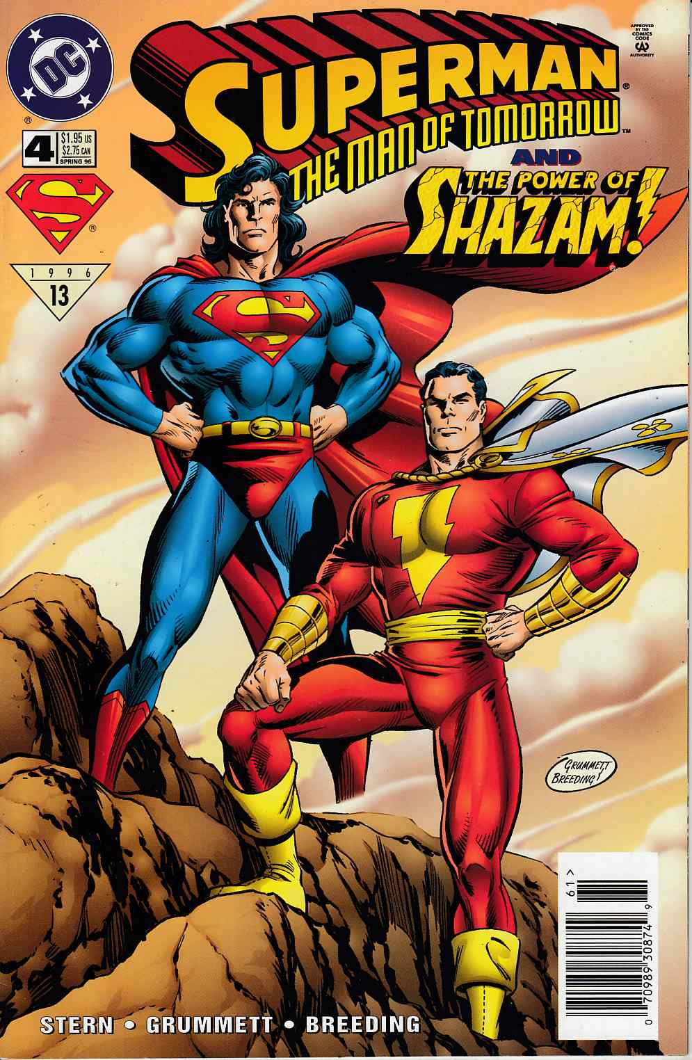 Superman The Man of Tomorrow #4 Newsstand Edition Very Fine (8.0) [DC Comic]_LARGE