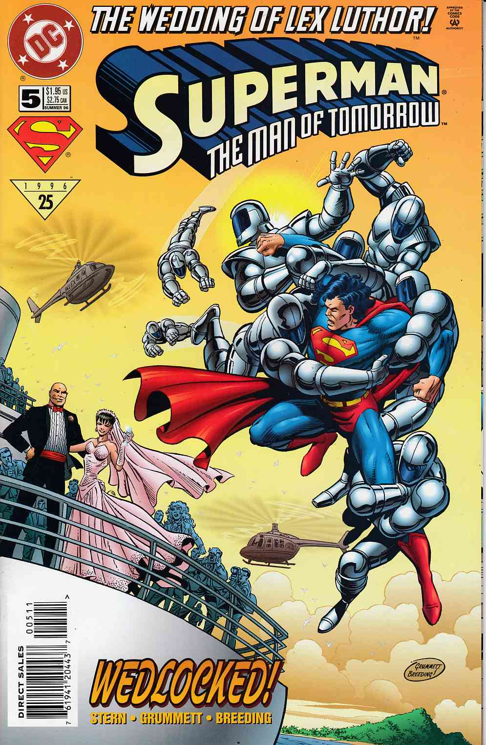 Superman The Man of Tomorrow #5 Very Fine (8.0) [DC Comic] LARGE