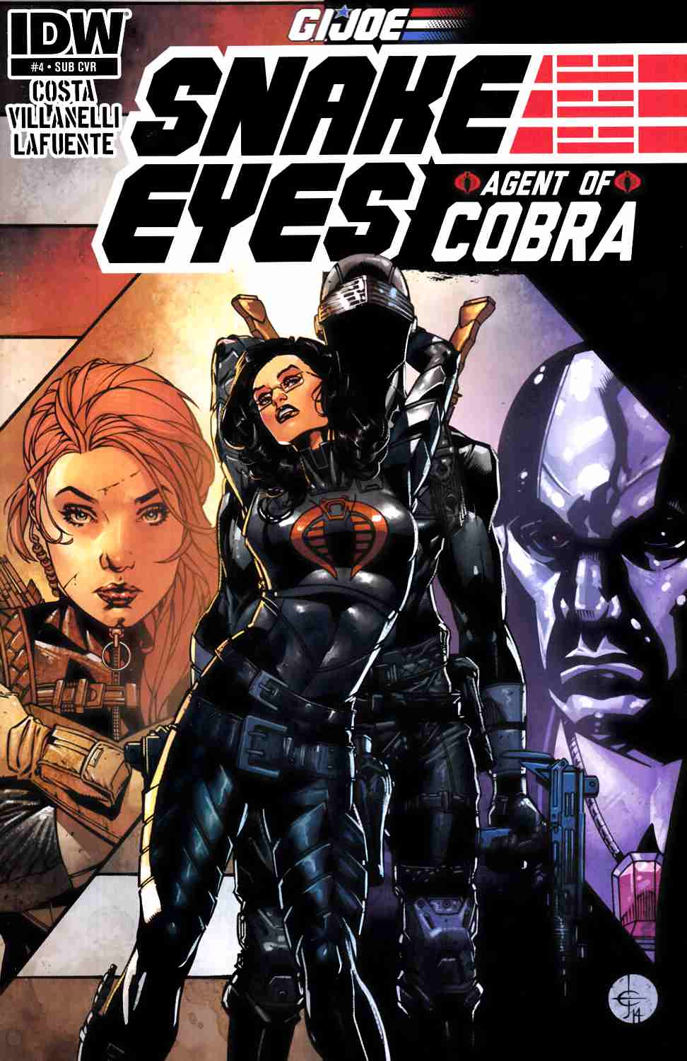 Gi Joe Snake Eyes Agent of Cobra #4 Subscription Cover [IDW Comic]