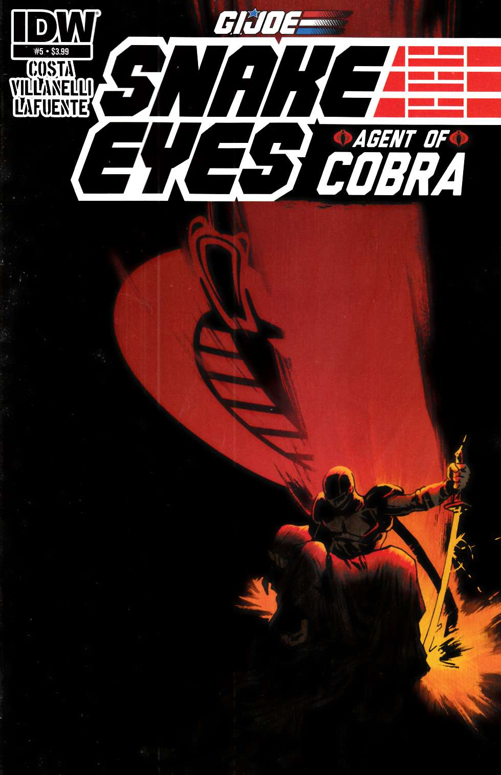 GI Joe Snake Eyes Agent Of Cobra #5 Near Mint (9.4) [IDW Comic]