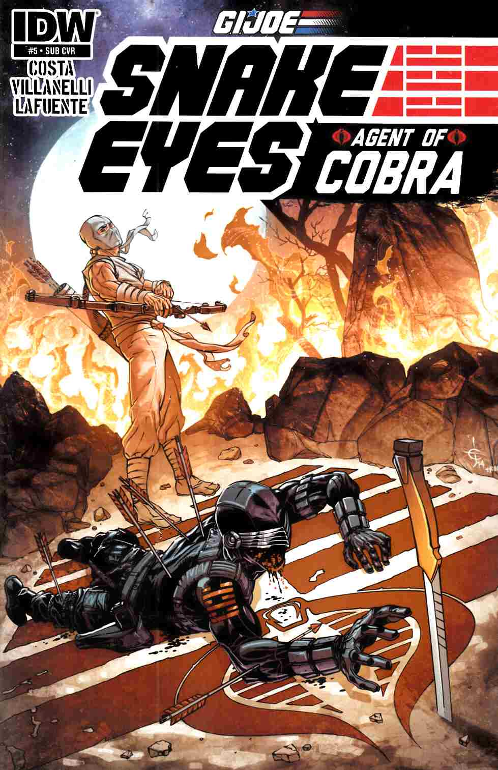 GI Joe Snake Eyes Agent Of Cobra #5 Subscription Cover [IDW Comic]