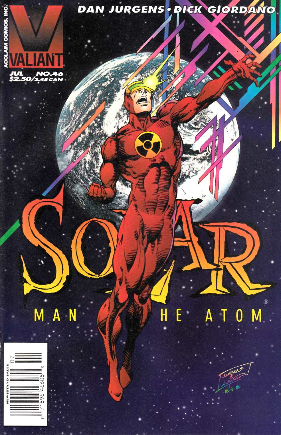 Solar Man of the Atom #46 Newsstand Edition Very Fine (8.0) [Valiant Comic] LARGE