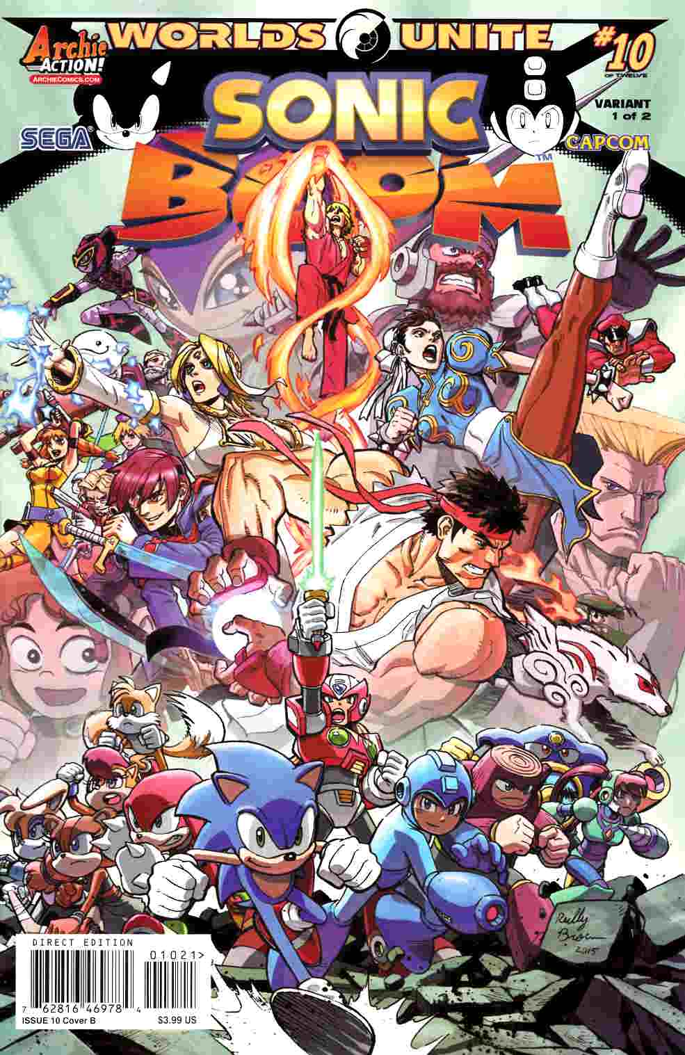 Sonic Boom #10 Reilly Brown Variant Cover [Archie Comic] LARGE
