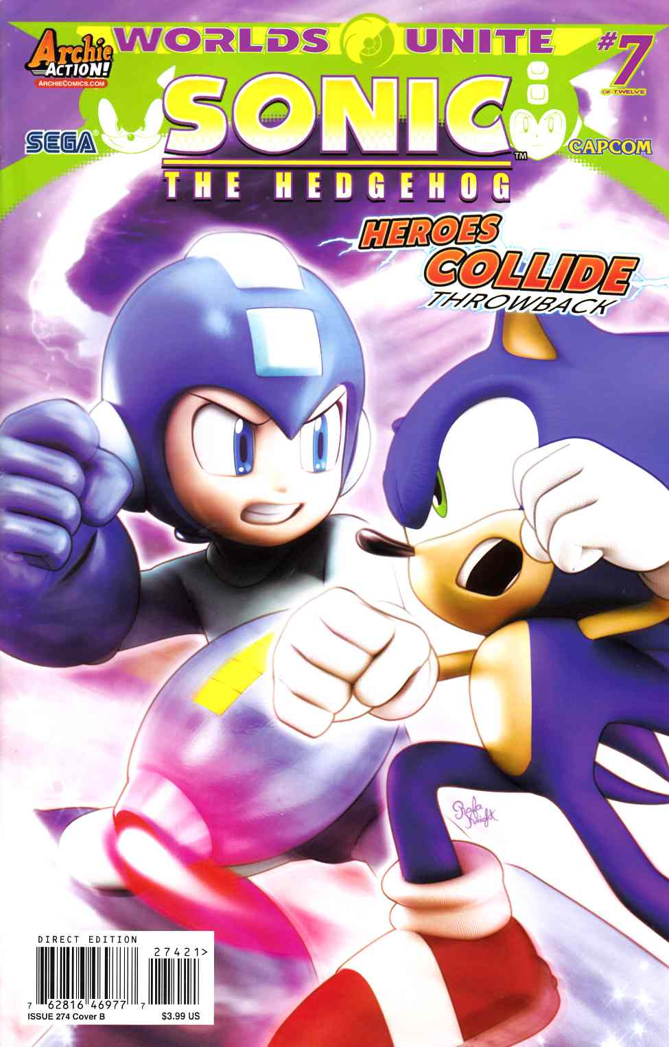 Sonic the Hedgehog #274 CG-Slugfest Variant Cover [Archie Comic]_THUMBNAIL