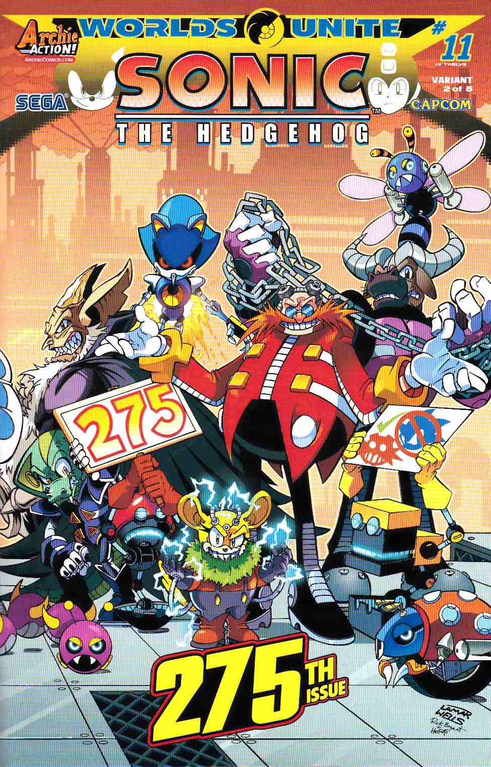 Sonic the Hedgehog #275 Wells Wraparound Variant Cover [Archie Comic]_THUMBNAIL