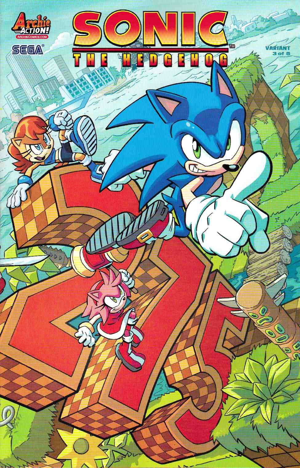 Sonic the Hedgehog #275 Yardley Wraparound Variant Cover [Archie Comic] THUMBNAIL