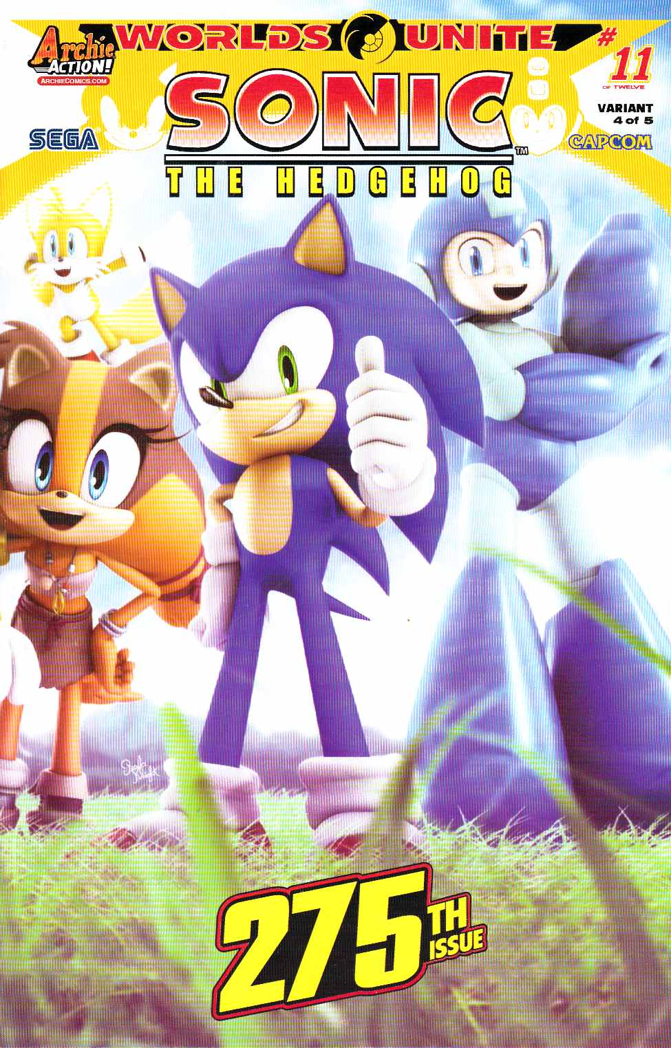 Sonic the Hedgehog #275 Knight Wraparound Variant Cover [Archie Comic] THUMBNAIL
