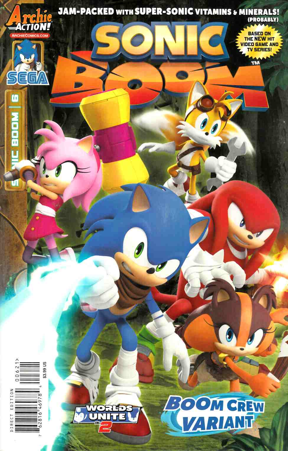 Sonic Boom #6 Boom Crew Cover [Archie Comic] THUMBNAIL