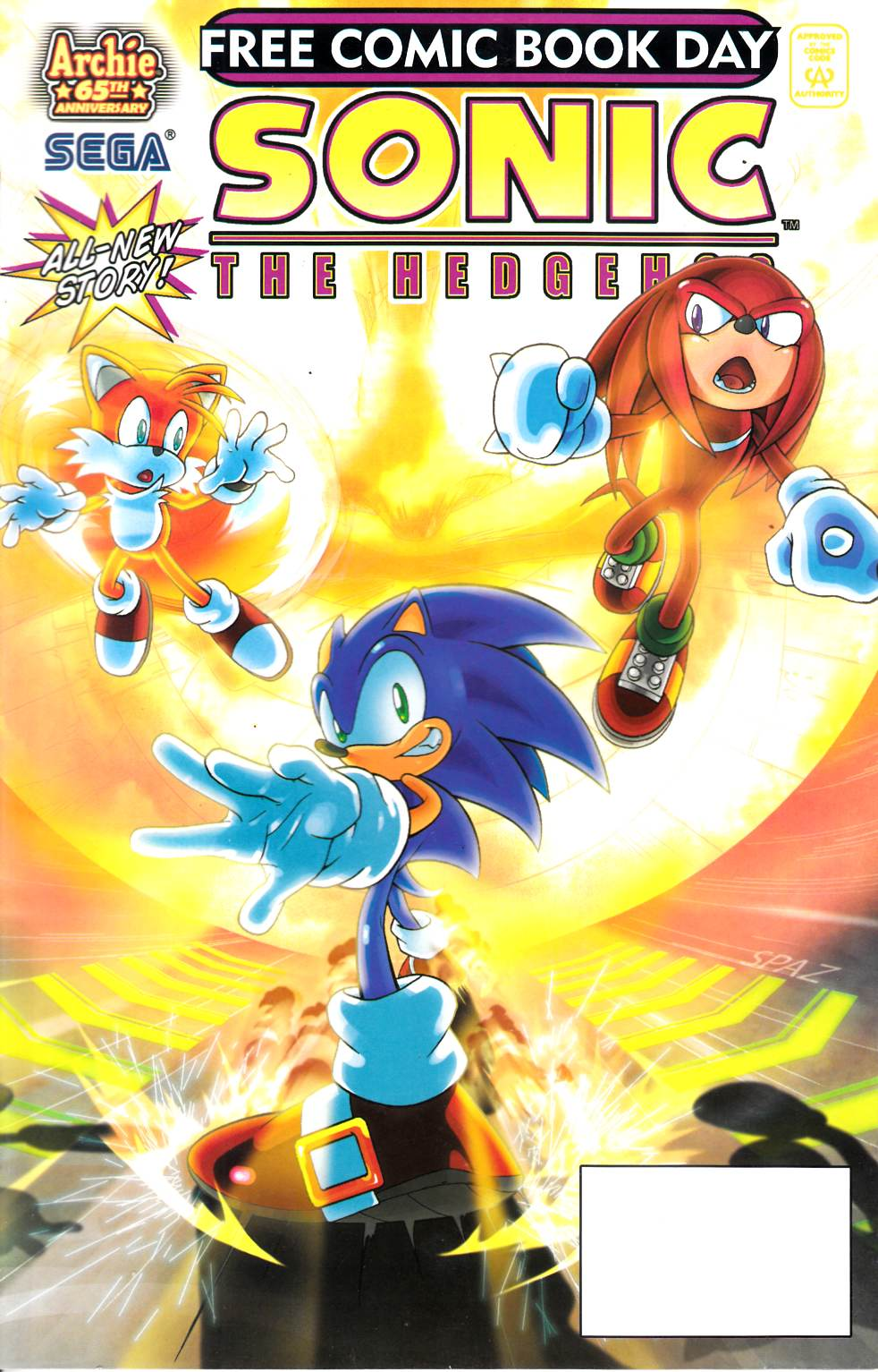 Sonic The Hedgehog FCBD 2007 (One Shot) Very Good (4.0) [Archie Comic] THUMBNAIL