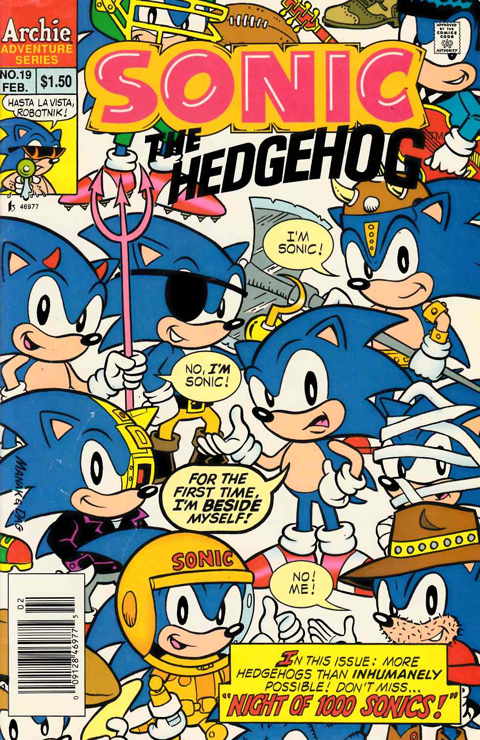 Sonic the Hedgehog #19 Newsstand Edition Very Good (4.0) [Archie Comic] THUMBNAIL