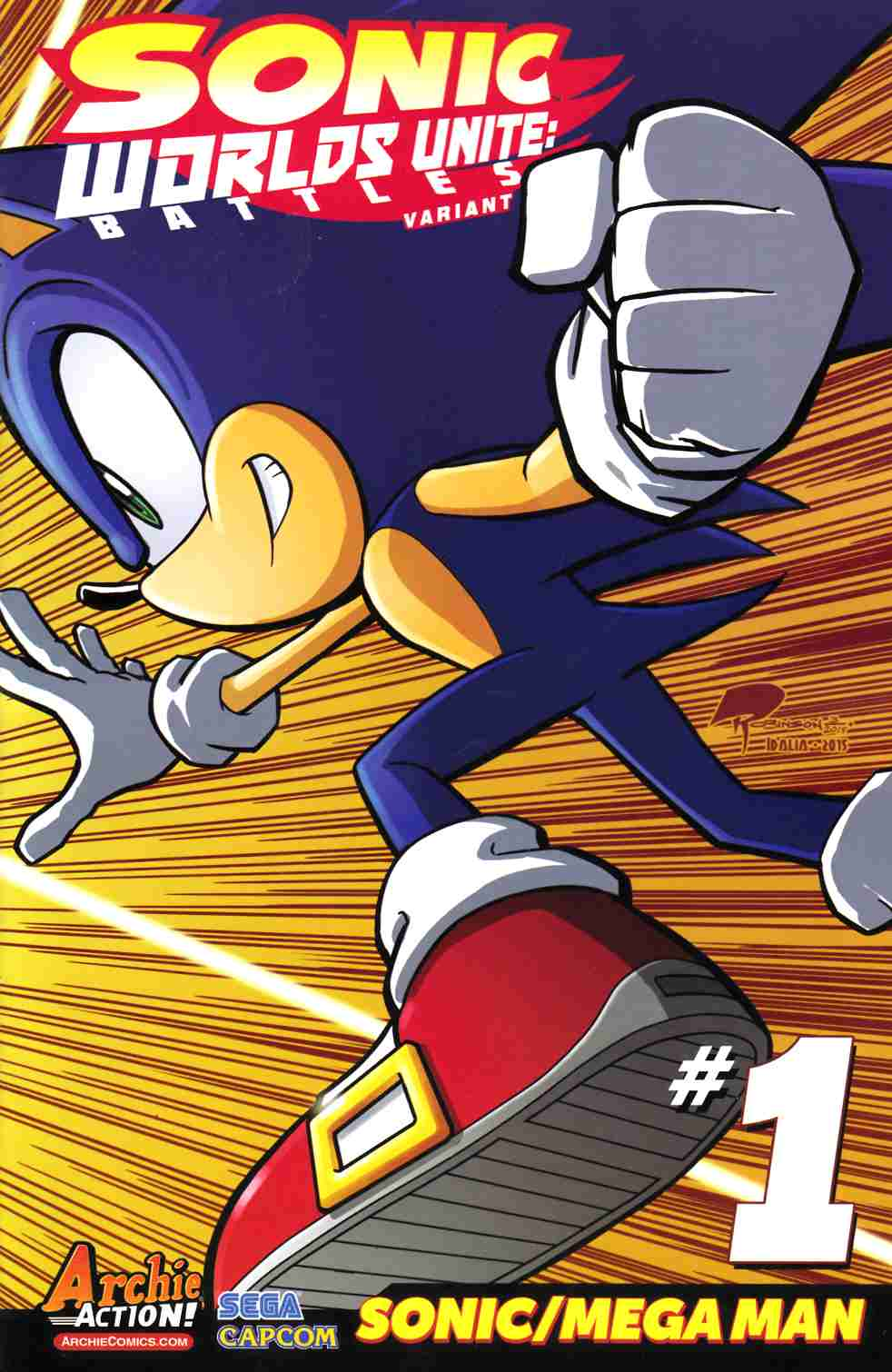 Sonic Worlds Unite Battles #1 Robinson Variant Cover [Archie Comic] THUMBNAIL