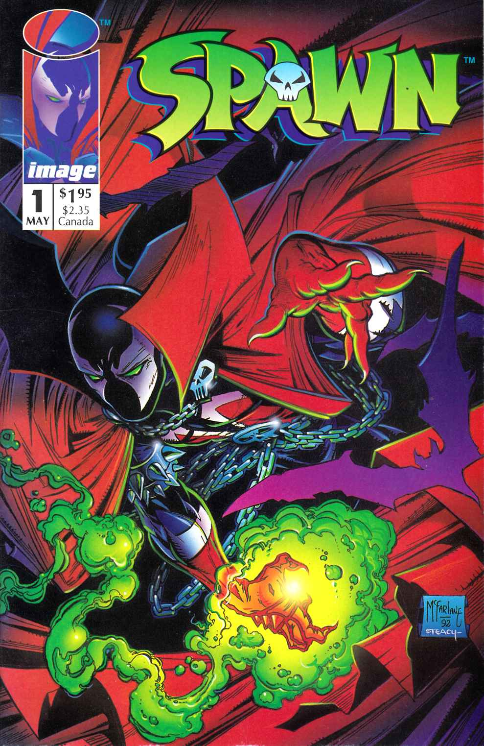 Spawn #1 Near Mint Minus (9.2) [Image Comic] THUMBNAIL