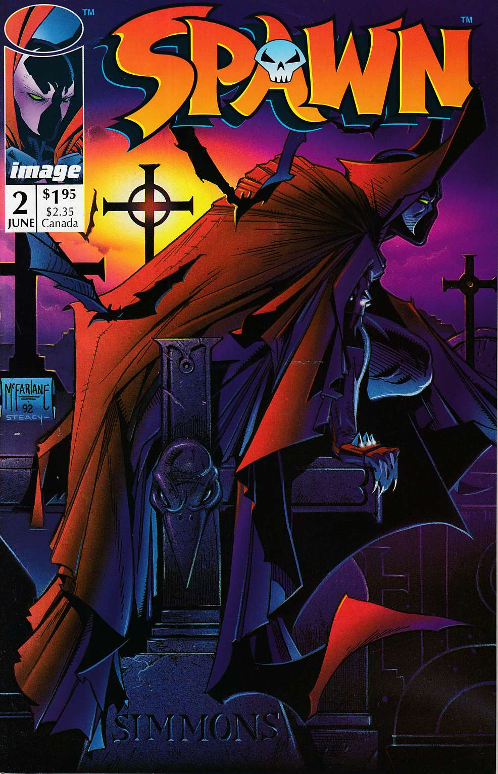 Spawn #2 Near Mint (9.4) [Image Comics] THUMBNAIL