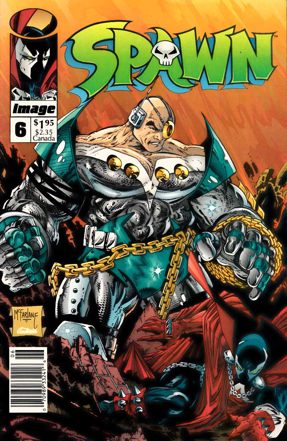 Spawn #6 Newsstand Edition Fine (6.0) [Image Comic] THUMBNAIL