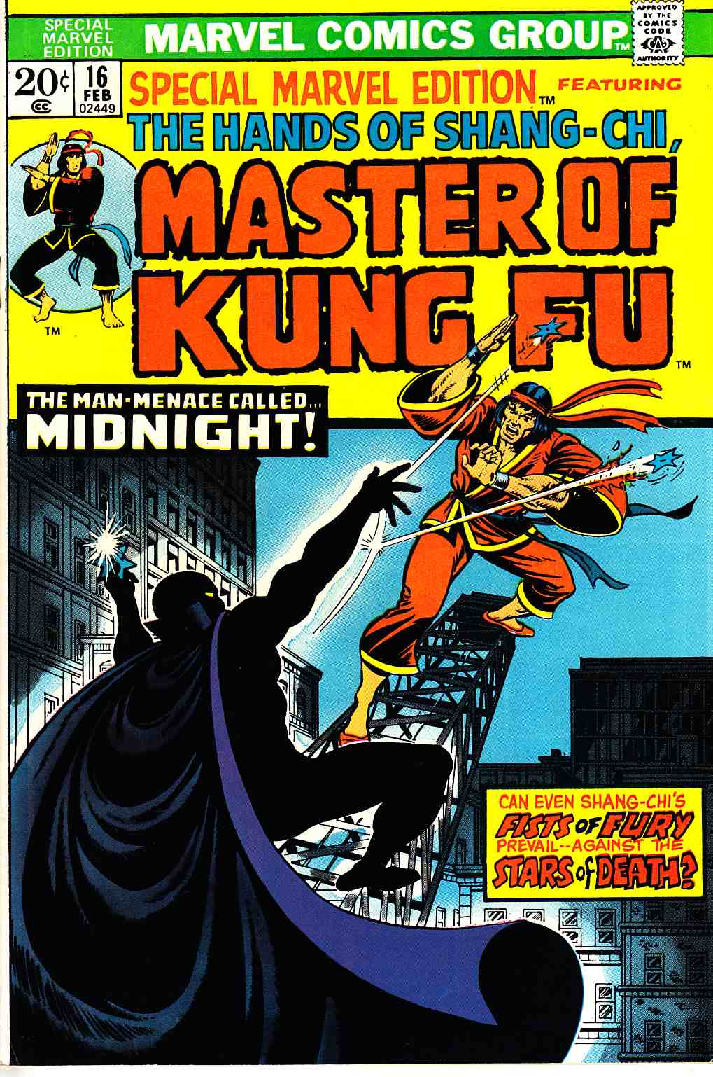 Special Marvel Edition #16 Master of Kung Fu Fine/Very Fine (7.0) [Marvel Comic]