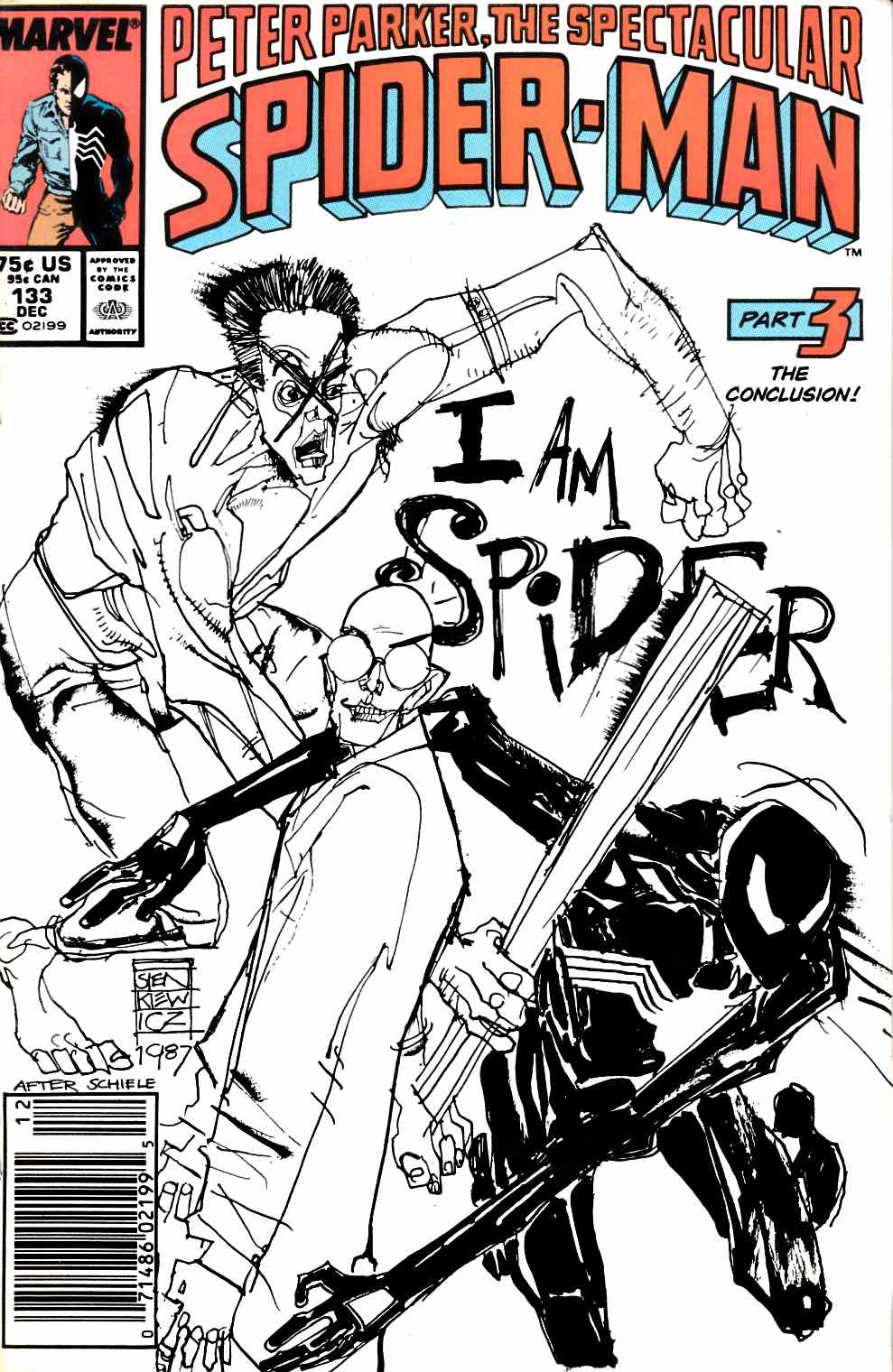 Peter Parker Spectacular Spider-Man #133 Newsstand Edition Fine (6.0) [Marvel Comic] THUMBNAIL